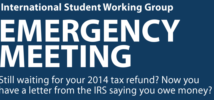 Emergency Tax Meeting!