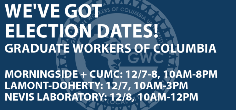 We've got Union Election Dates!