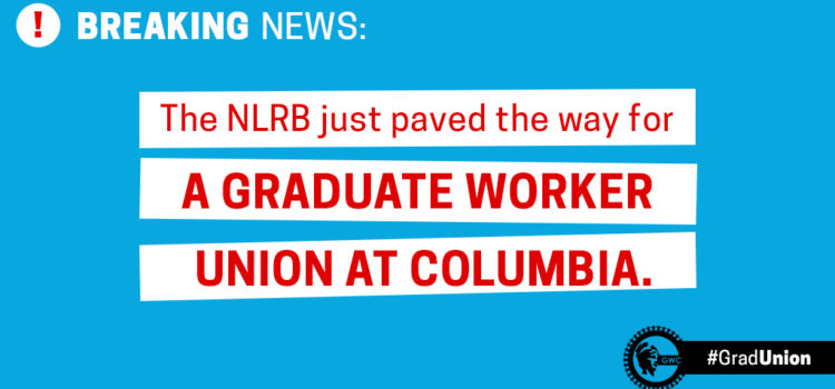 BREAKING: You've just won the right to a union!