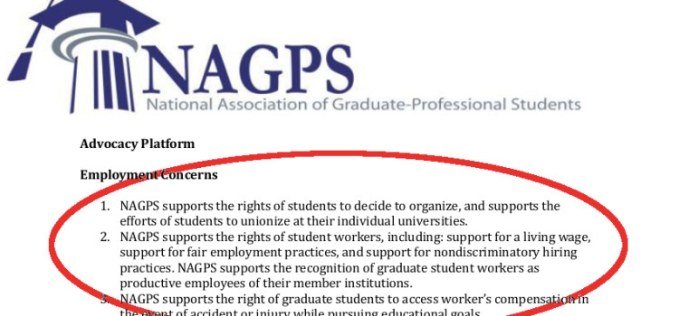 The National Association of Graduate-Professional Students Stands with GWC