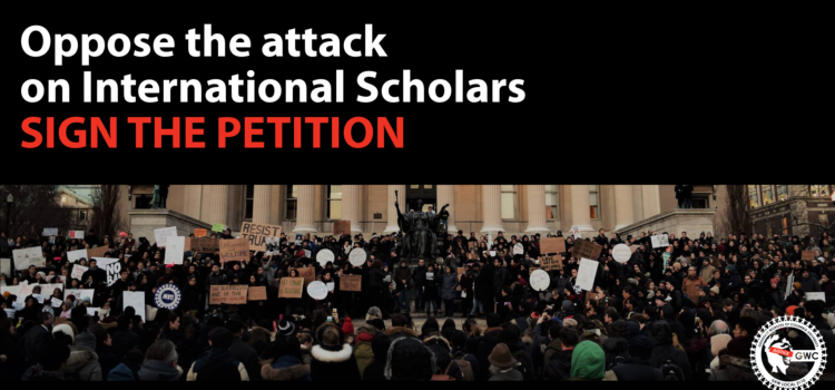 oppose the attack on international scholars (Chinese visas and Muslim Ban)